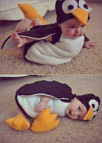 Nora is really good at being a penguin.