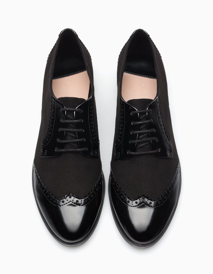 Combined punched brogues - ALL - WOMAN | Stradivarius Hungary