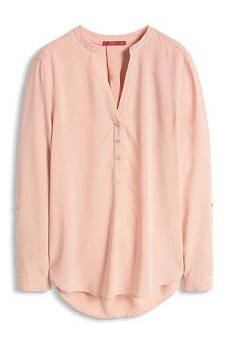 EDC / Lange blouse, oprolbare mouwen mooi voor altijd. Om nooit meer uit te doen.