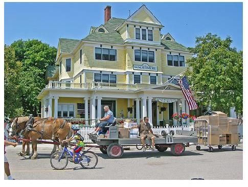 Mackinac Island - There's no place quite like it.  Bicycles and horses - no cars.  Victorian houses, fudge shops, eateries, shopping.