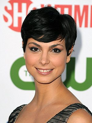 Morena Baccarin - longer on top, and I love those bangs