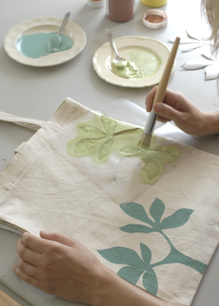 DIY CRAFT PROJECTS: Fabric Craft Stamping