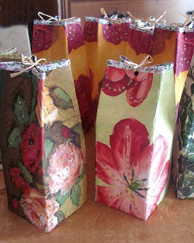 Caixas de presente de embalagem tetrapack - ARTESANATO PASSO A PASSO!