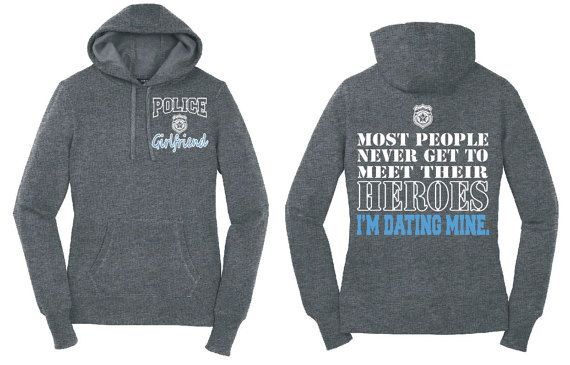 Police Girlfriend Hoodie Police Girlfriend Shirt Police Sweatshirt Police Hoodie Police Officer Gift Thin Blue Line Blue Lives Matter LST254 by NCWDesigns. Explore more products on http://NCWDesigns.etsy.com