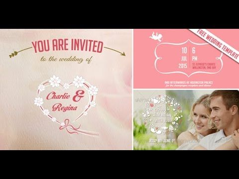 Image Result For Wedding Invitation Template After Effects Free This