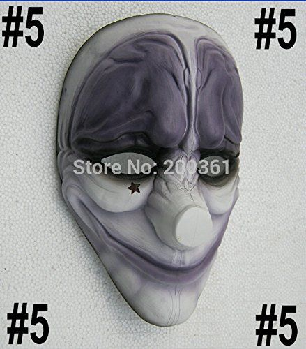2015  5 Hoxton payday mask game heist joker Sharpshooter Ghost dallas wolf hoxton chains mask prop Halloween Masquerade * Read more home decor at the image link.