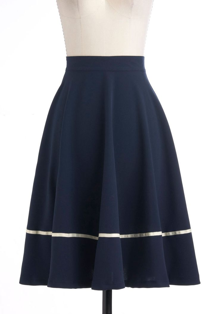 Streak Clearly Skirt at Modcloth. Though do I really need any more full navy skirts?
