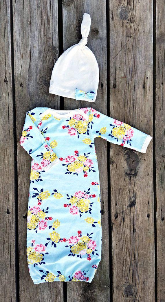 Vintage Inspired Newborn Gown Baby Girl 0-3 by brambleandbough