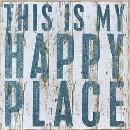 """""""This is my Happy Place"""" Rustic Wall Decor for the home salon :)"""
