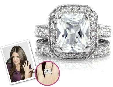 Khloe Kardashian Engagement Ring Replica