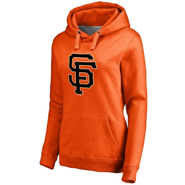 San Francisco Giants Women's Secondary Color Primary Logo Pullover Hoodie - Orange - $79.99