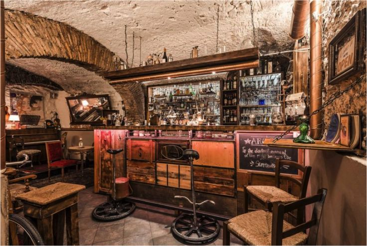 Argot, Rome: A fabulous underground bar with a Parisian 1920's style – all in the heart of Rome. Located near Campo de' Fiori  this is the best spot in the stunning, historical city for fantastic jazz and even better cocktails! Nostalgic bricked walls dotted with dim lights and candle-lit tables transport you to the last century. #TheHomeOfGreyGoose #France #Cocktails #GreyGoose