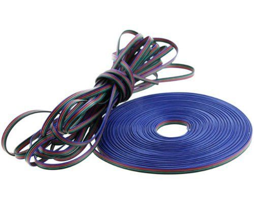 4-Wire Conductor LED Power Extension Cable Wire