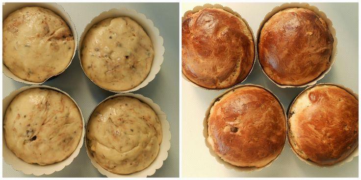 Pintar la superficie de cada pan, con huevo batido y cocinar en horno a 170º durante 25/30 minutos aproximadamente. Recuerden que cocino en un horno gas, con calor sólo de abajo y en la rejilla central.