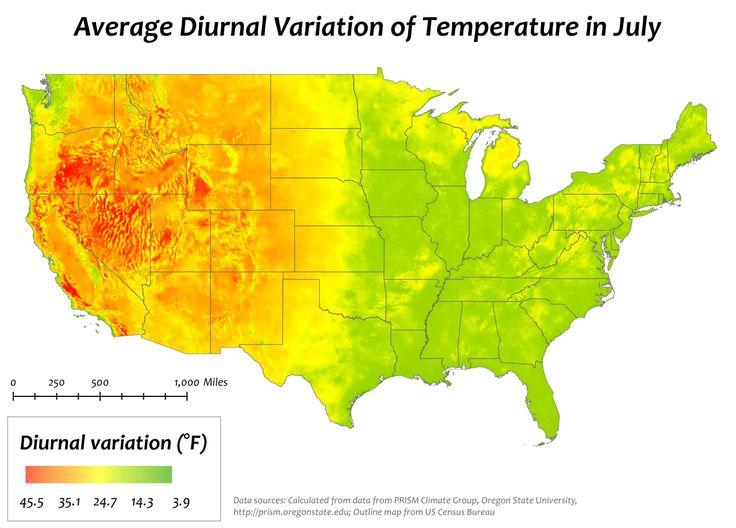 Die Besten Us Temperature Map Ideen Auf Pinterest Nationale - Us map temperature