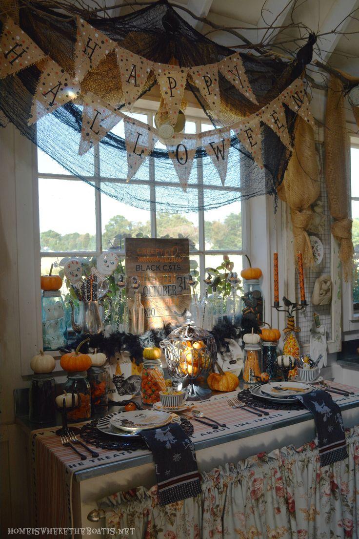 768 best Halloween Table images on Pinterest