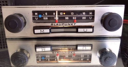 HEREI HAVE FOR SALE A RARE AND SOUGHT AFTER COMPACT AND LIGHTWEIGHT BLAUPUNKT CLASSIC CAR CHROME RADIO FROM THE SIXTIES EARLY SEVENTIES BLAUPUNKT