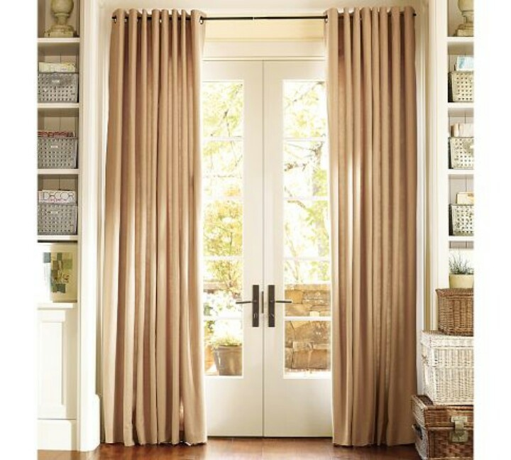 Style For French Door Curtains In Family Room.  Curtains For French Doors