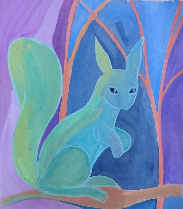 Squirrel in colour by filmfactory on Etsy