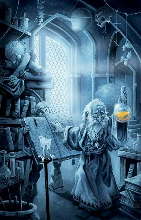 The gnomish mages have a fine tradition of alchemy gong back many generations. #alchemy