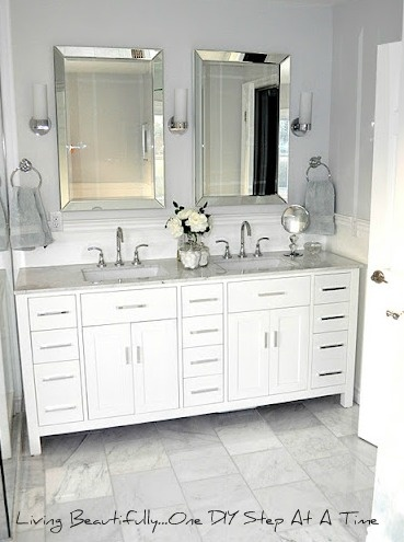 Best Bathroom Vanity Images On Pinterest Bathroom Ideas - Double vanity with two mirrors