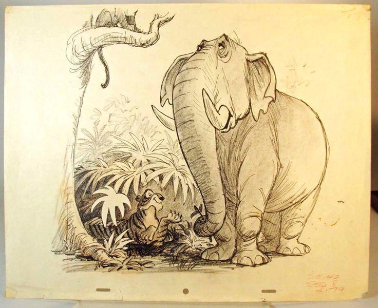 Ken Anderson concept art for The Jungle Book