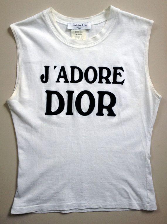 Original J'ADORE DIOR TShirt by Christian Dior by IIOIIOII on Etsy, $135.00