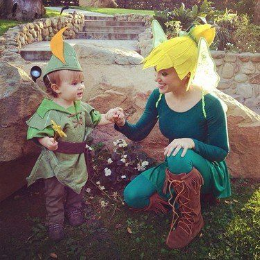 Alyssa Milano and her son, Milo, made a perfect Disney pair as Peter Pan and Tinker Bell for Halloween 2012. Source: Instagram user milano_alyssa