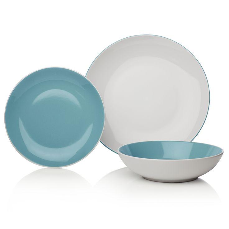 Buy Sabichi 12-Piece St Ives Duck Egg Stoneware Dinner Set at Robert Dyas