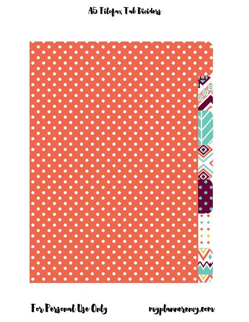 FREEBIE: A5 Double Sided Planner Dividers for your Filofax or Kikki K planners.