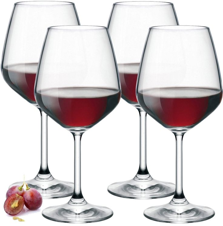 Amazon.com | Paksh Novelty Italian Red Wine Glasses - 18 Ounce - Lead Free - Shatter Resistant - Wine Glass Set of 4, Clear: Wine Glasses http://amzn.to/2tdwYQT