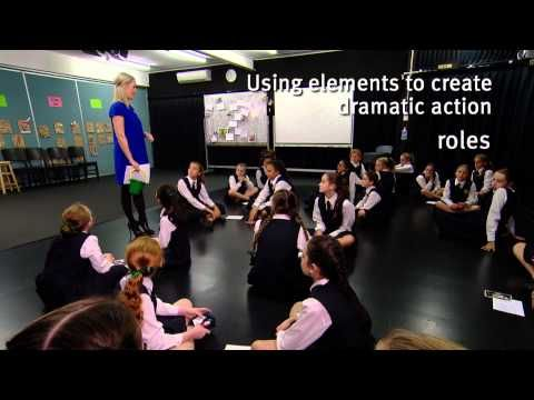 The Arts - Drama. This suite of five videos supports the implementation of The Australian Curriculum: Drama by providing examples of drama practices in a classroom environment. [Queensland Curriculum and Assessment Authority]
