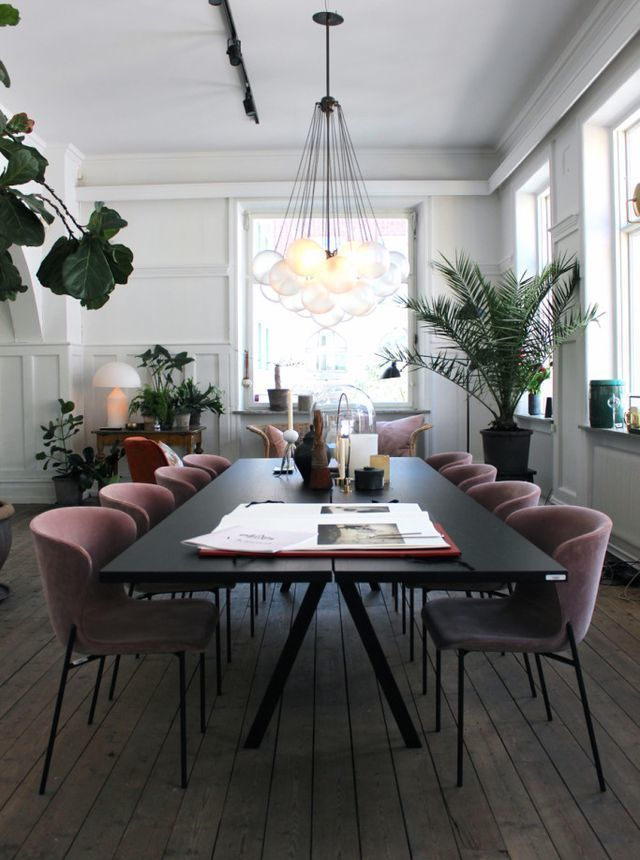 Artilleriet Studio In Rich Dark Tones And Light Pink Accents | my scandinavian home | Bloglovin'