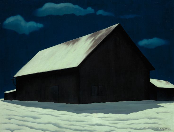 george copeland ault(1891–1948), january full moon, 1941. oil on canvas. the nelson-atkins museum of art, kansas city, missouri, usa http://news.uga.edu/releases/article/gmoa-to-exhibit-to-make-a-world-george-ault-and-1940s-america/