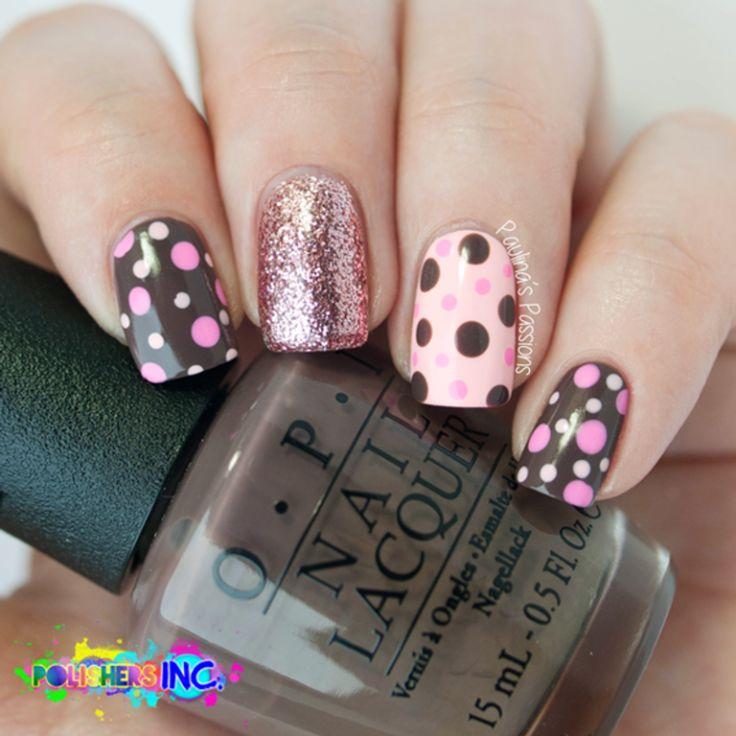 cute polka dots nails bmodish