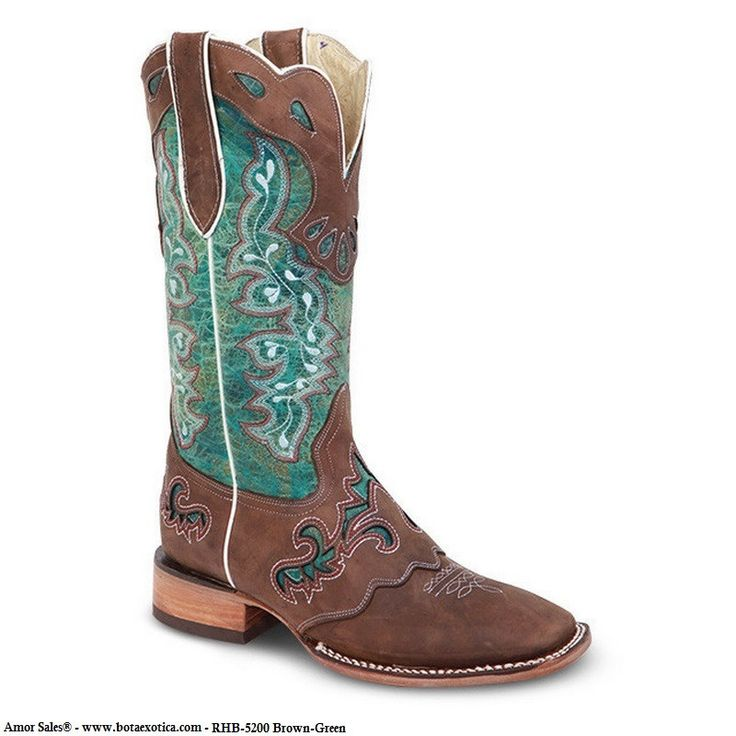 RedHawk Boots - RHB-5200 - Botas Vaqueras para Mujer. Botas Rodeo de Mujer - Hechas a mano en piel de la mas alta calidad. Tallas para mujer del 5 al 10. Rodeo boots for Women - Authentic hand crafted