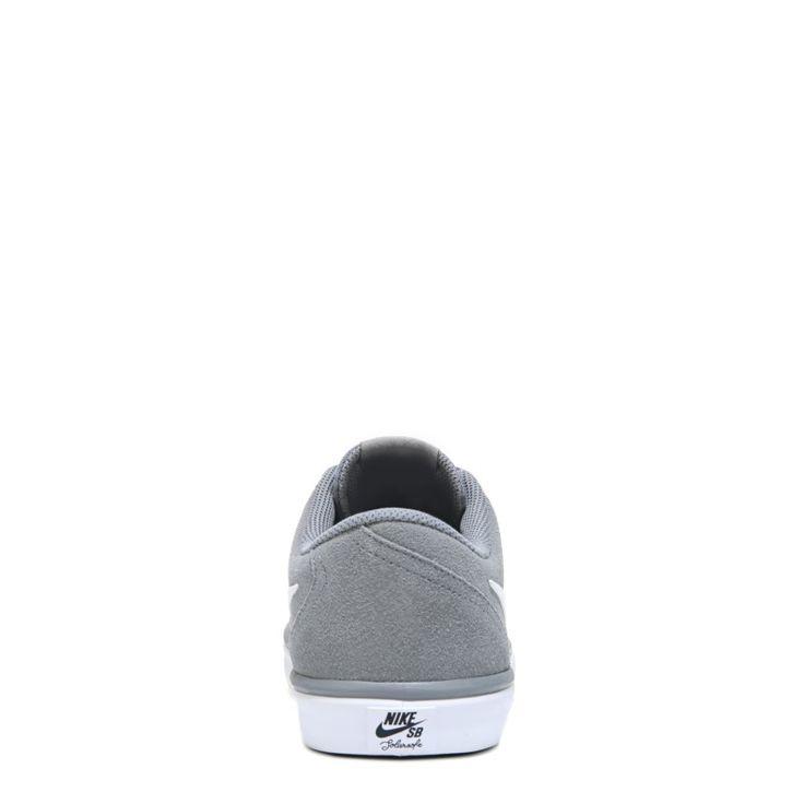 Nike Men's Nike SB Check Solar Suede Skate Shoes (Cool Grey/White) - 14.0 M