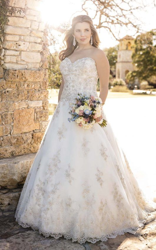 88 best images about plus size wedding dresses on pinterest for Petite wedding dress designers