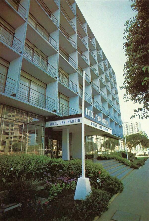 Fachada del Hotel San Martín de Viña del Mar en el año 1980.  #ViñadelMar #HSMChile #HotelSanMartín #Historia #Hotelería #Turismo