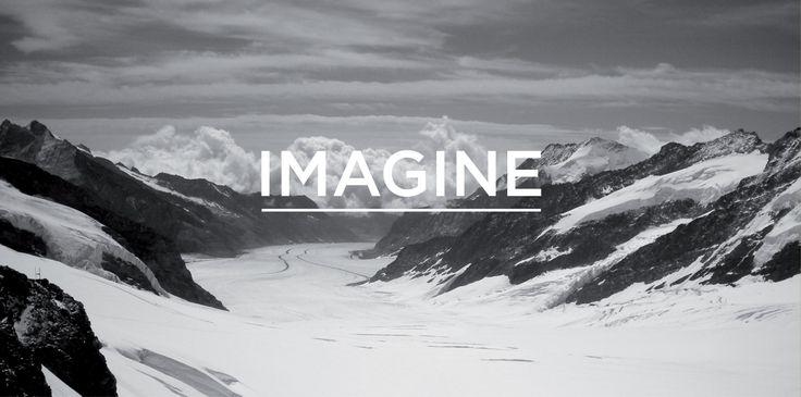 Imagine intro on the Fletcher Creative website. #Logo #Branding #Icon #Identity #Typography #website #layout #mountains #nature #environment #switzerland #design #creative #designstudio