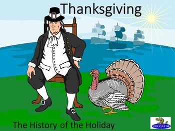 Thanksgiving PowerPoint. History of Thanksgiving. Presents how the Thanksgiving holiday got started from the Pilgrims to how it is celebrated today. What is Thanksgiving? Who were the Pilgrims? Covers the voyage of the Mayflower, the landing at Plymouth, the Mayflower Compact, the menu of the first Thanksgiving, how Thanksgiving became a holiday, traditions of the feast and Black Friday, Thanksgiving parades and football.