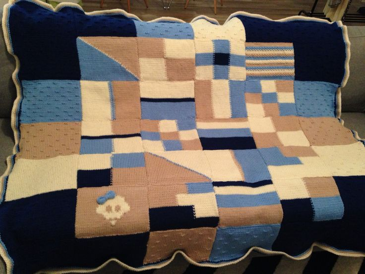 Knitting in squares