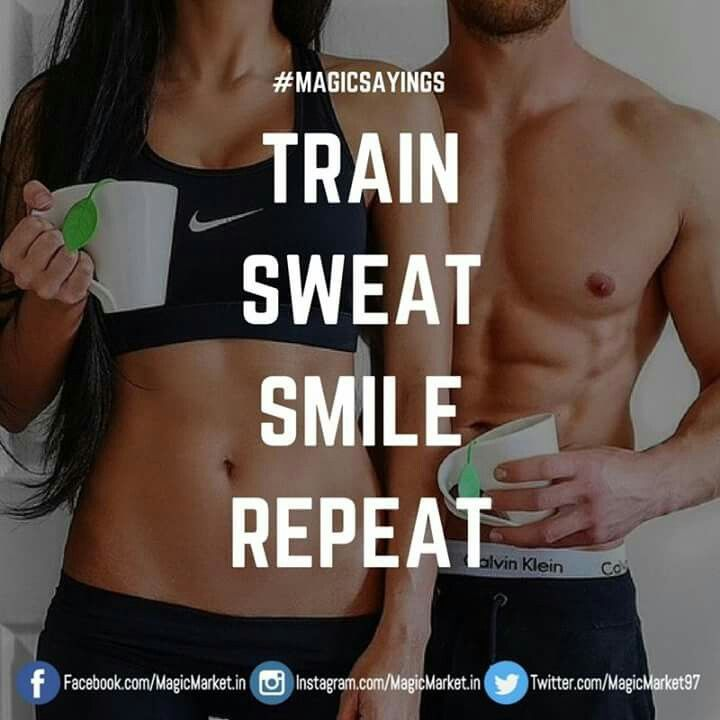 Train,Sweat,Smile,Repeat #MagicSayings Like : http://buff.ly/2nbAbjq #WorkoutMotivation #WorkoutWednesday #Wednesday #WorkoutQuotes #Quotes