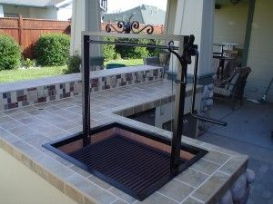 Custom Santa Maria BBQ, w/ Iron Frame w/ Stainless Steel Grill Grate & high heat paint.