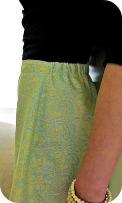 how to make flat front with elastic back - cuz sometimes it's just easier to make your own skirt!