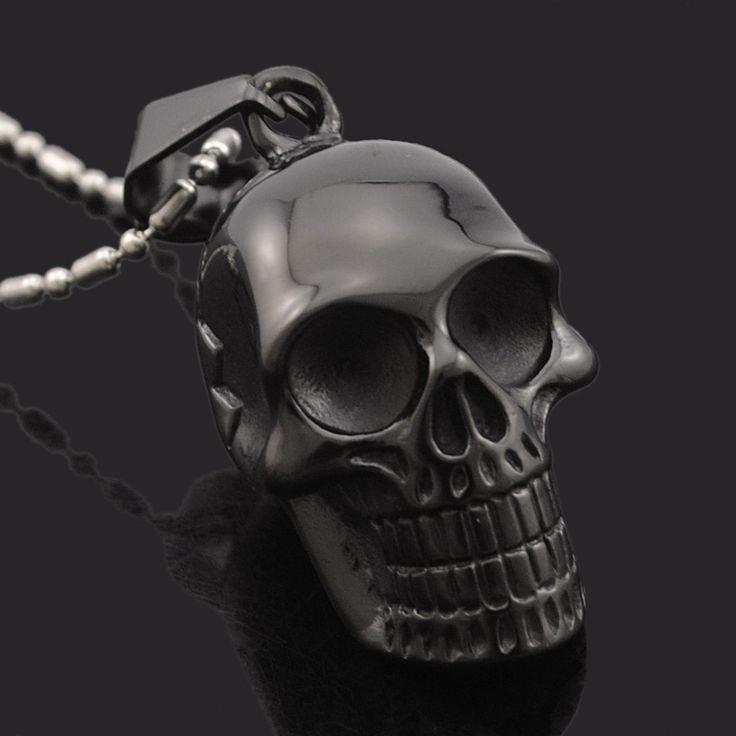 Unisex Stainless Steel Skull Pendant Necklace //Price: $14.69 & FREE Shipping //     #skull #skullinspiration #skullobsession #skulls