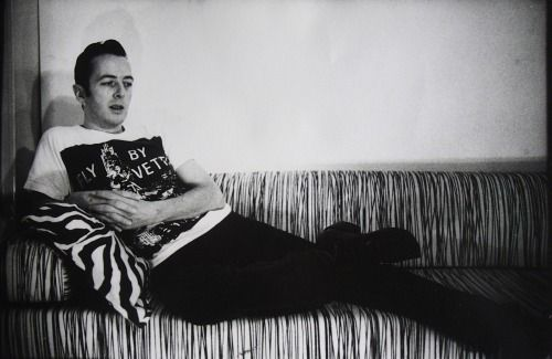 """johnny-caramello-deactivated201:  """" Joe Strummer photographed by Pennie Smith.  """""""