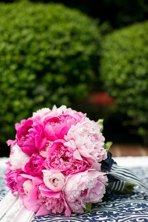 Preppy Pink and Navy Wedding by Events in the City - Southern Weddings Magazine