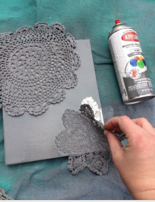 Lace painting. Easy, quick, and cute