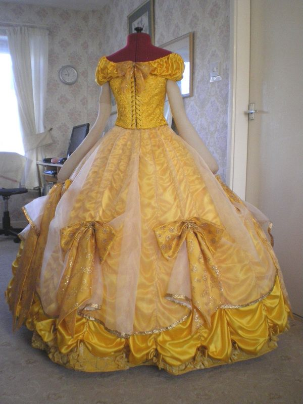 Belle S Gold Ball Gown Tracy S Costuming World Musical